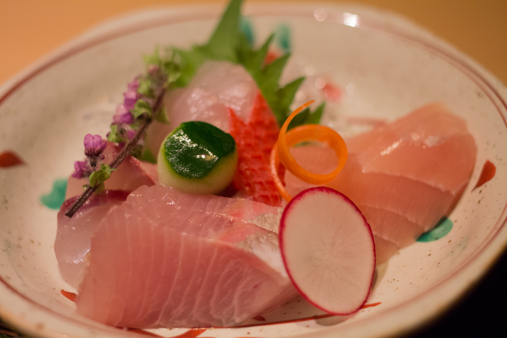 星野リゾート 界 伊東 夕食 伊豆の地魚のお造り
