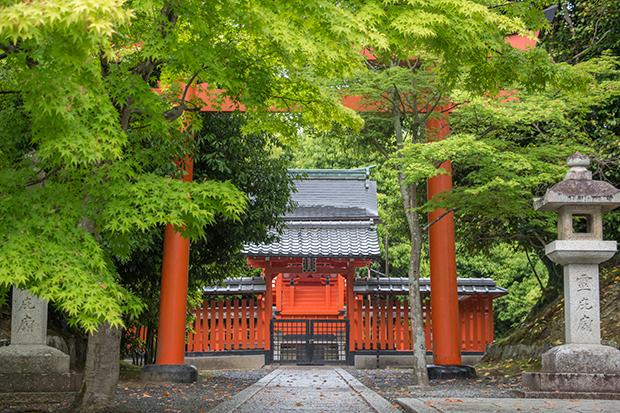 京都 嵐山 天龍寺の鳥居