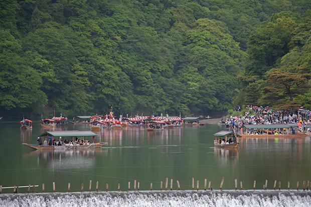 京都 嵐山 三船祭