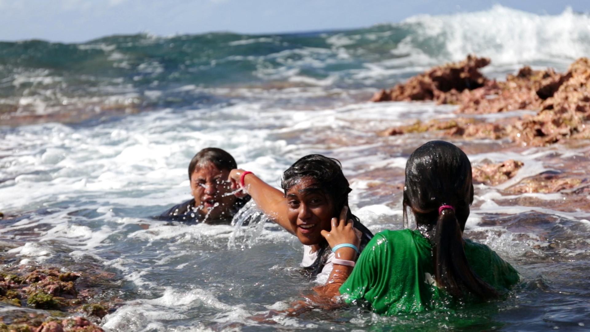 タヒチ ランギロア島 プロモーション動画 観光 子供